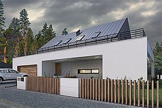 Projekt domu Z pergolą 03