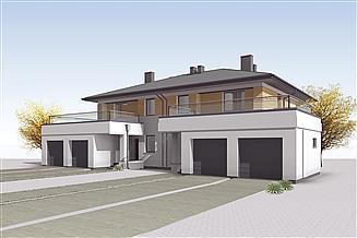 Projekt domu Waniliowy zabudowa bliźniacza, 2 segmenty
