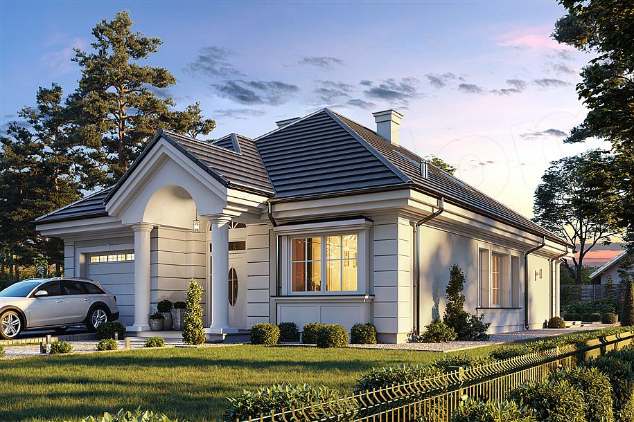 d975733d25c2b8 Projekt Dom na parkowej 7 B 151,65 m2 - koszt budowy 213 tys. zł ...