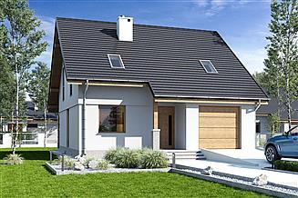 Projekt domu Biała z garażem 1-st. [A]