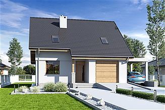 Projekt domu Biała z garażem i wiatą [A1]