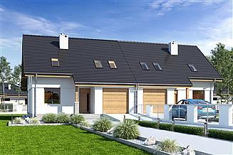 Projekt domu Biała z garażem 1-st. bliźniak [A-BL]