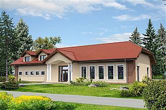 Projekt domu weselnego Budynek usługowy Puchacz DCU02