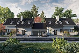Projekt domu Dino Duo - murowana – beton komórkowy