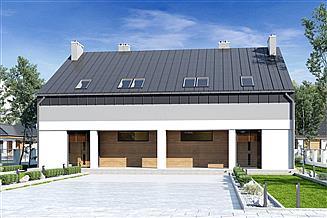 Projekt domu Mazur bez garażu bliźniak [B-BL2]