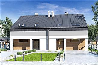 Projekt domu Mazur bez garażu bliźniak [B-BL1]