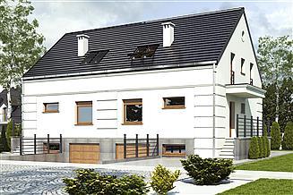 Projekt domu Grab z garażem 1-st. bliźniak [A1-BL1]