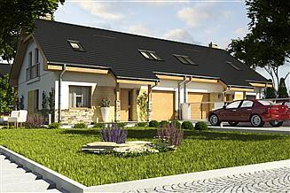 Projekt domu Jarząbek II z garażem 1-st. bliźniak [A1-BL1]