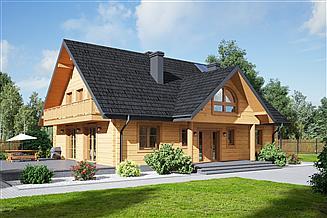 Projekt domu Podsarnie 1dw