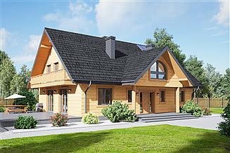 Projekt domu Podsarnie 1dws