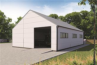Projekt garażu G207DS w konstrukcji stalowej