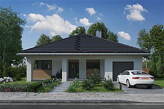 Projekt domu Bratek Nano - murowana – ceramika