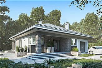 Projekt domu Blanka Bobo - murowana – beton komórkowy