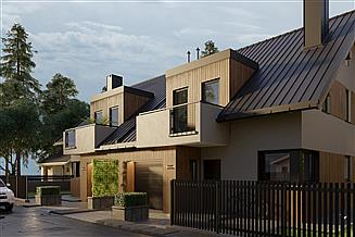 Projekt domu Lila Bo Duo - murowana – beton komórkowy