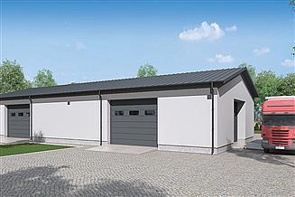Projekt garażu Murator GMC05c Budynek garażowo-magazynowy