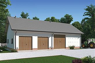 Projekt stodoły Murator IGC21a Stodoła z garażem