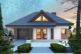 Projekt domu Reksio N+