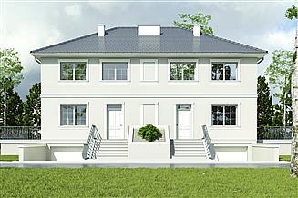 Projekt domu Willa cyprysowa z garażem 1-st. [A]