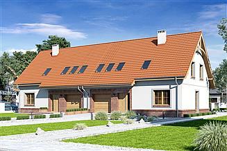 Projekt domu Igor II styl z garażem 1-st. bliźniak [A-BL]
