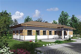 Projekt budynku usługowego Murator UC67c Budynek usługowy