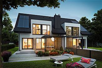 Projekt domu Konrad G1 (bliźniak) energo