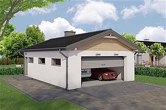 Projekt garażu G113D