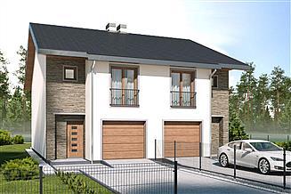 Projekt domu Konrad - bliźniak -PLP