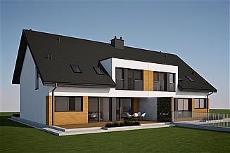 Projekt domu Wiktor G2 (bliźniak) energo
