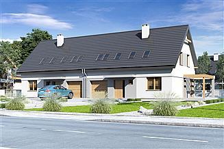 Projekt domu Igor III z garażem 1-st. bliźniak [A1-BL]