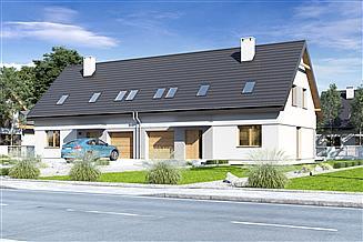 Projekt domu Igor IV z garażem 1-st. bliźniak [A1-BL]