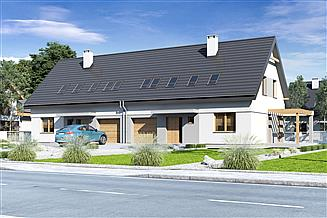 Projekt domu Igor III z garażem 1-st. bliźniak [A-BL]