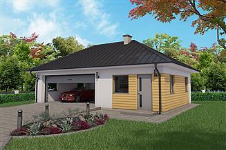 Projekt garażu G66C