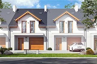 Projekt domu Jukka z garażem 1-st. [A1-SZ]