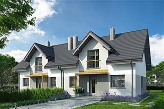 Projekt domu Eco 28 - dwulokalowy
