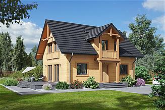 Projekt domu Paczków 3 dws