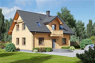 Projekt domu Miłoszów 1dws