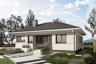Projekt domu Felek - murowana – beton komórkowy