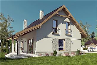 Projekt domu Julia III z garażem 1-st. [A1]