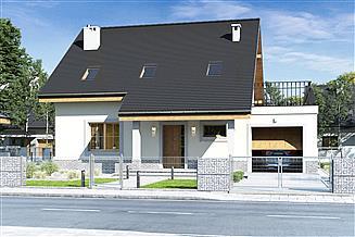 Projekt domu Strzyżyk z garażem 1-st. [A]