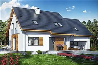 Projekt domu Jaskółka 7 z garażem 2-st.