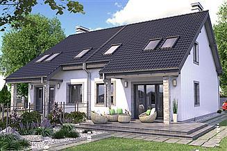 Projekt domu Paweł i Gaweł 2A bliźniak dwulokalowy