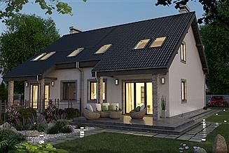 Projekt domu Paweł i Gaweł 2A szeregowy 4 segmenty