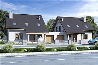 Projekt domu Strzyżyk z garażem 1-st. bliźniak [A-BL]