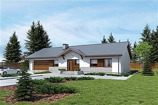 Projekt domu Murator M184b Przystępny - wariant II (z wentylacją mech. i rekuper.)
