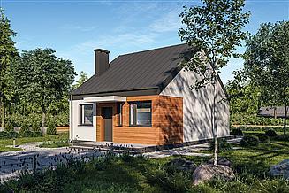 Projekt domu Murator C333z Miarodajny - wariant XXI