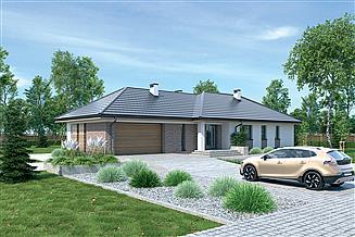 Projekt domu Murator M230f Zachodzące słońce - wariant VI
