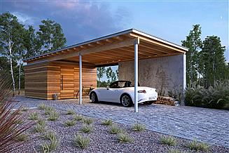 Projekt wiaty garażowej Wiata W2