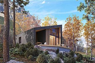 Projekt domu letniskowego Szyszka 2 dr-S