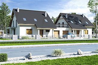 Projekt domu Strzyżyk II z garażem 1-st. bliźniak [A-BL]