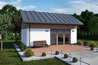 Projekt kuchni letniej KL17 szkielet drewniany kuchnia letnia/ bud. gospodarczy